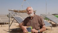 Professor David Faiman with solar panels and the latest clean energy technology