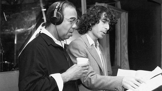 In the mid 1980s, Murray Weinstock works on a commercial with cabaret legend Bobby Short.