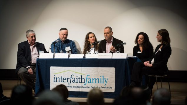 "Caption: A panel at last week's ""Interfaith Opportunity Summit."" Courtesy of Interfaithfamily.com"