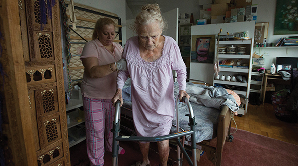 "A scene from ""Care,"" about the plight of home health-care workers. Photos courtesy of DOC-NYC"