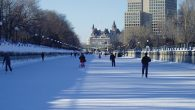 Ottowa in winter: Commuting by ice skates. Wikimedia Commons
