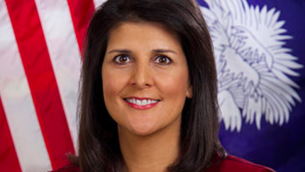 Nikki Haley en 2014 (Crédit : Official South Carolina Governor's Office par Sam Holland)