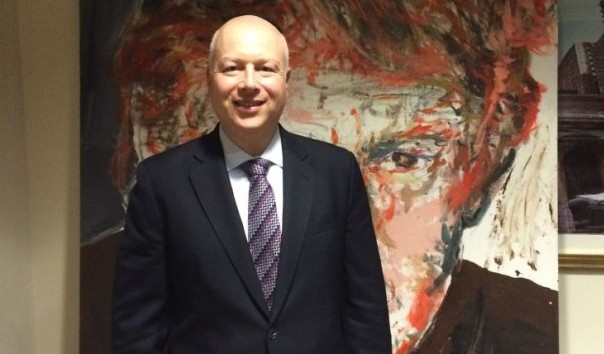 Jason Greenblatt, President-elect Donald Trgump's adviser on Israel, and an Orthodox Jew, in a conference room at Trump world headquarters in Manhattan. (Uriel Heilman/JTA)
