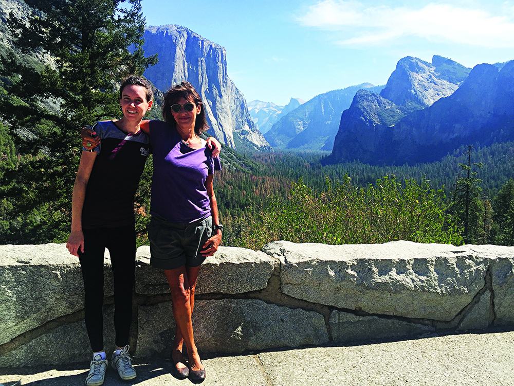 Lara and Sharon at Yosemite National Park