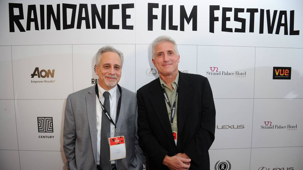 Lawrence Russo (left) and Larry Confino attend the Raindance Film Festival. (Eamonn M. McCormack)
