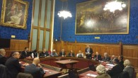 Lord Nick Bourne addressing the launch of the project in the House of Lords