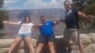 Neil avoiding the drop at the Canyon with his children Rachel and Jamie