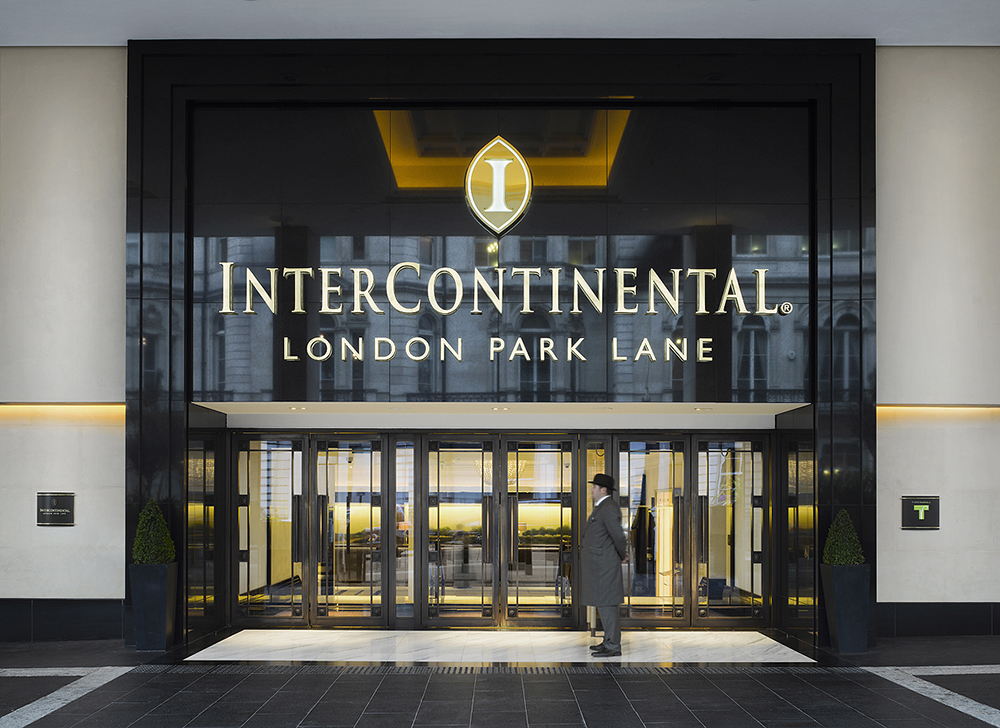 The polite doormen at the InterContinental London Park Lane