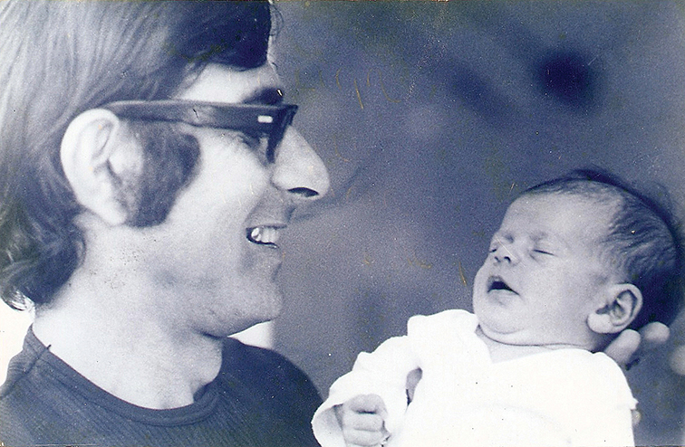 Andre holds his daughter, Anouk. He was 27 in that photo, as he was when he was killed. (Courtesy Ankie Spitzer)