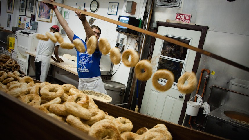 Montreal bagels at the legendary St. Viateur Bagel Shop. (Creative Commons)