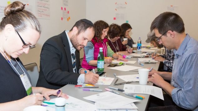 "From ""The Collaboratory,"" the largest gathering of Jewish innovators in the country. Credit Coby Engelhart."