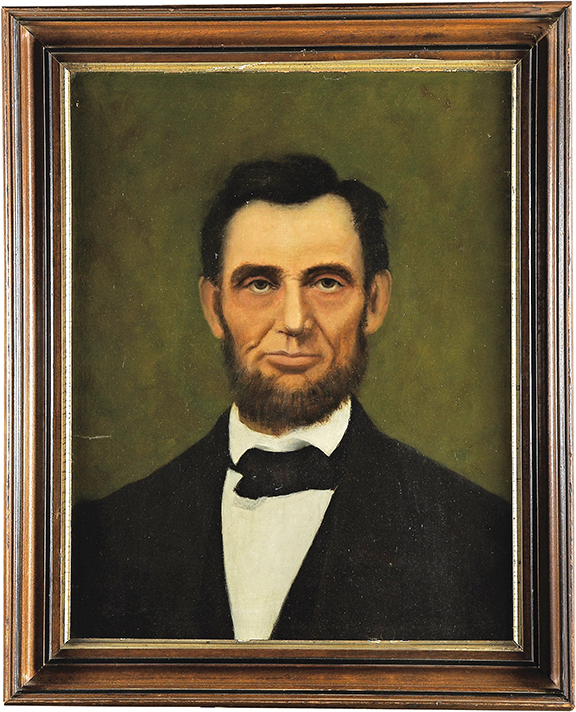 Freeman Woodcock Thorp painted four portraits of Abraham Lincoln; one of them hangs in Rabbi Genack's home.