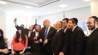 Donald Trump introducing Jewish supporters and members of his informal advisory team at Trump Tower in NYC this year. JTA