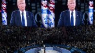 Donald Trump speaking at the American Israel Public Affairs Committee 2016 Policy Conference at the Verizon Center in DC. JTA