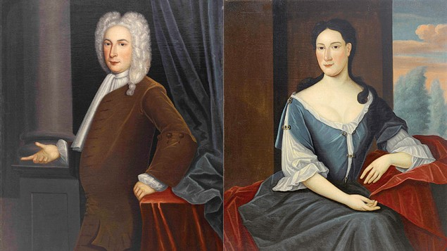 Jacob Franks and Abigail Levy Franks of New York; husband and wife were painted by Gerardus Duyckinck.