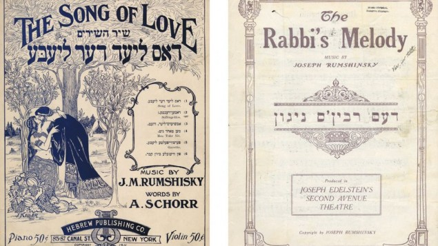 The covers for sheet music discovered in YIVO's archives.