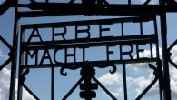 The Arbeit macht frei (Work will make you free) sign at Dachau