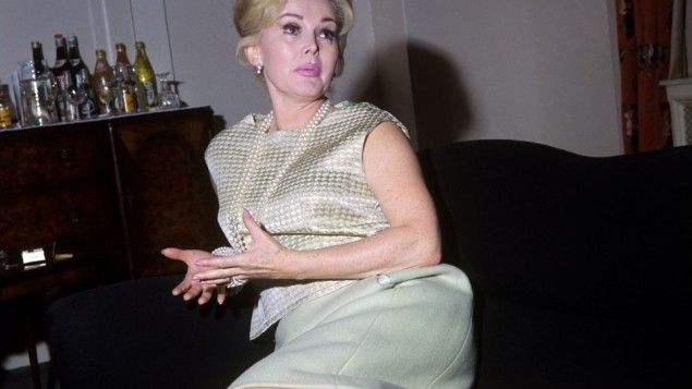 Actress Zsa Zsa Gabor has died aged 99, ( Photo credit should read: PA Wire)