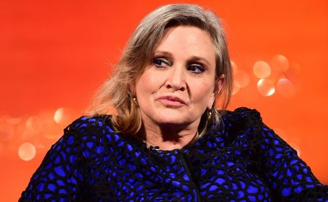 Carrie Fisher during the filming of the Graham Norton Show