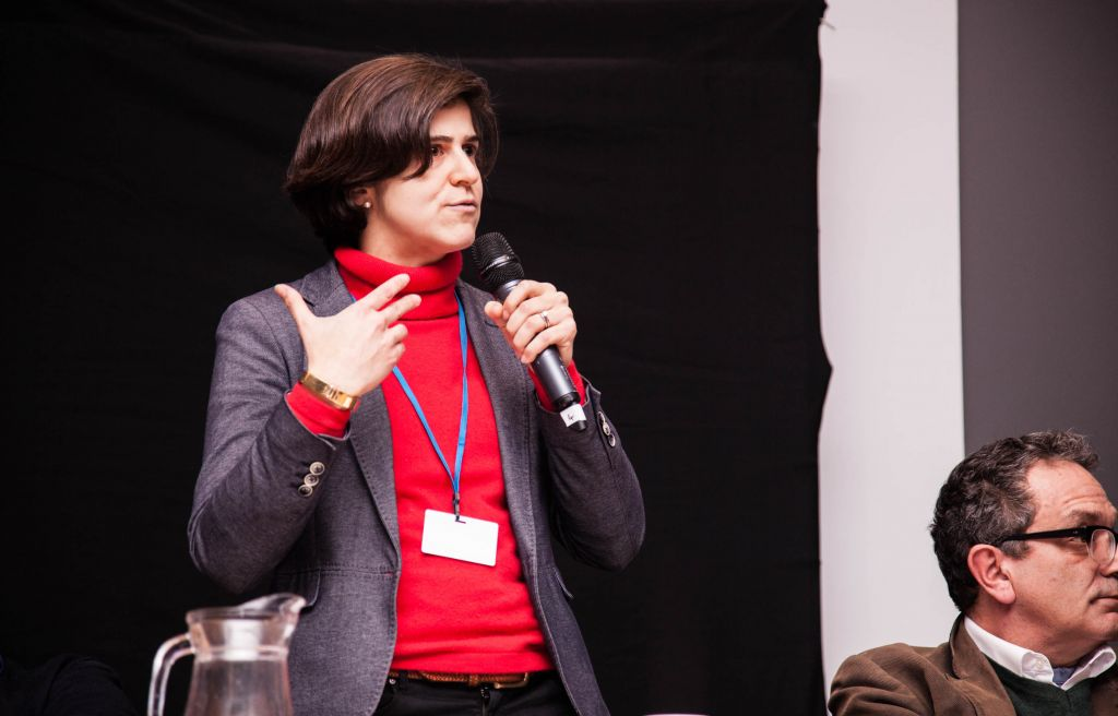 Sarah Sackman speaking at the Limmud event