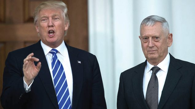 President Donald Trump with retired Gen. James Mattis . Getty Images