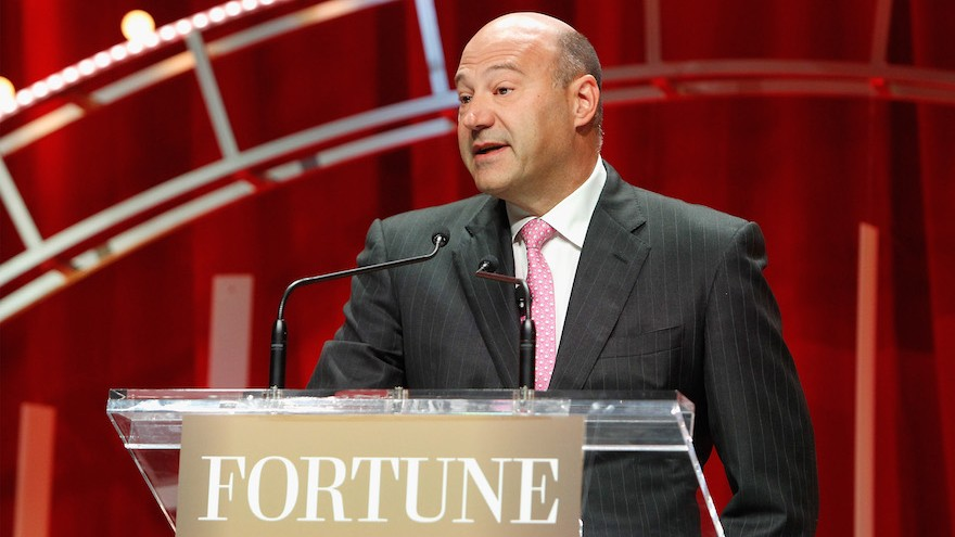 President and COO of Goldman Sachs Gary Cohn speaks onstage during Fortune's Most Powerful Women Summit at the Mandarin Oriental Hotel on October 13, 2015 in Washington, DC. (Paul Morigi/Getty Images for Fortune/Time Inc via JTA)