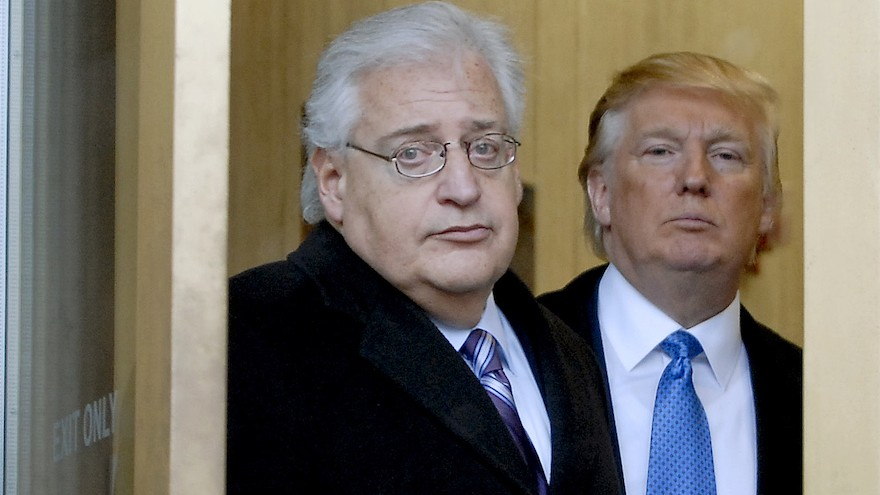 Donald Trump and attorney David Friedman exit the Federal Building, following an appearance in US Bankruptcy Court on February 25, 2010, in Camden, New Jersey. (Bradley C Bower/Bloomberg News, via Getty Images / JTA)