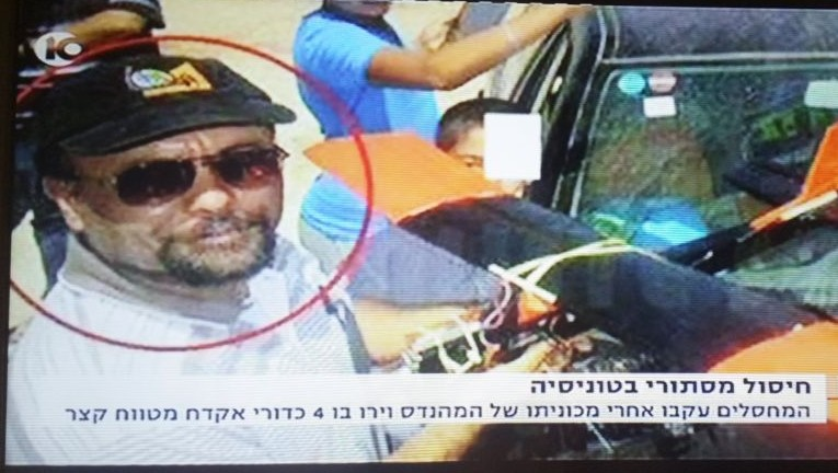 Mohammed Al-Zoari, a Tunisian scientist with ties to Hamas killed near his home in the Tunisian city of Sfax on Thursday, December 15 2016. (Screen capture Channel 10)