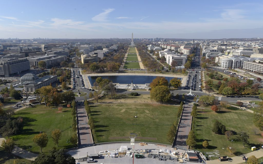 File: Inaugural preparations on the West Front of Capitol Hill in ...