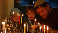 Limmud conference participants light Chanukah candles in December 2016