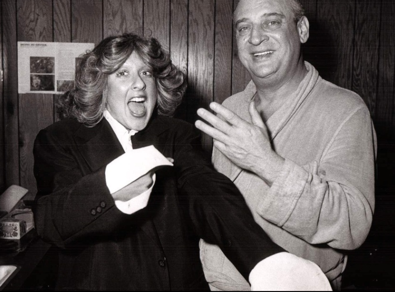 Elayne Boosler and Rodney Dangerfield, circa 1974 (Courtesy Elayne Boosler)