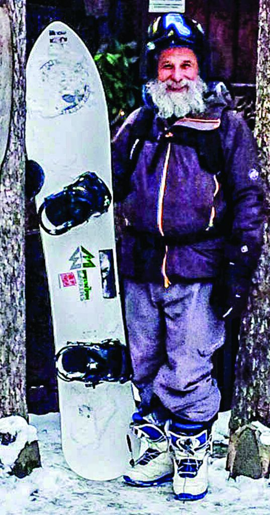 The snowboarding rabbi, Avraham Novick