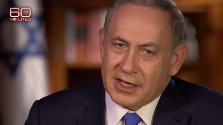 Prime Minister Benjamin Netanyahu speaks to CBS's 60 Minutes in an interview broadcast on December 11, 2016 (CBS screenshot)