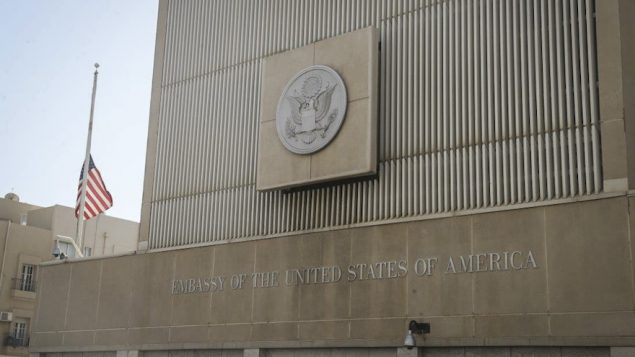 The U.S. Embassy in Tel Aviv, June 14, 2016. (Flash90)