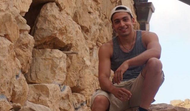 University of Southern California student Jacob Soroudi during a visit to Israel in August, 2015 (Facebook)