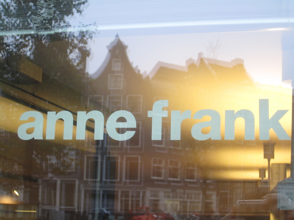 Exterior of the Anne Frank House in Amsterdam, November 2014 (Matt Lebovic/The Times of Israel)