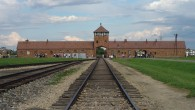 Former Nazi camp Auschwitz-Birkenau's infamous death gate, located in modern day Poland