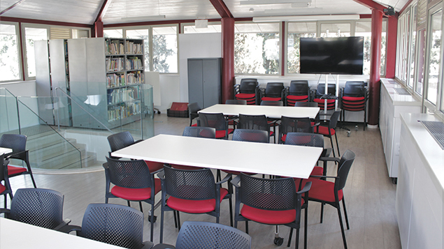 The library and resource room at the Eshkol Museum.