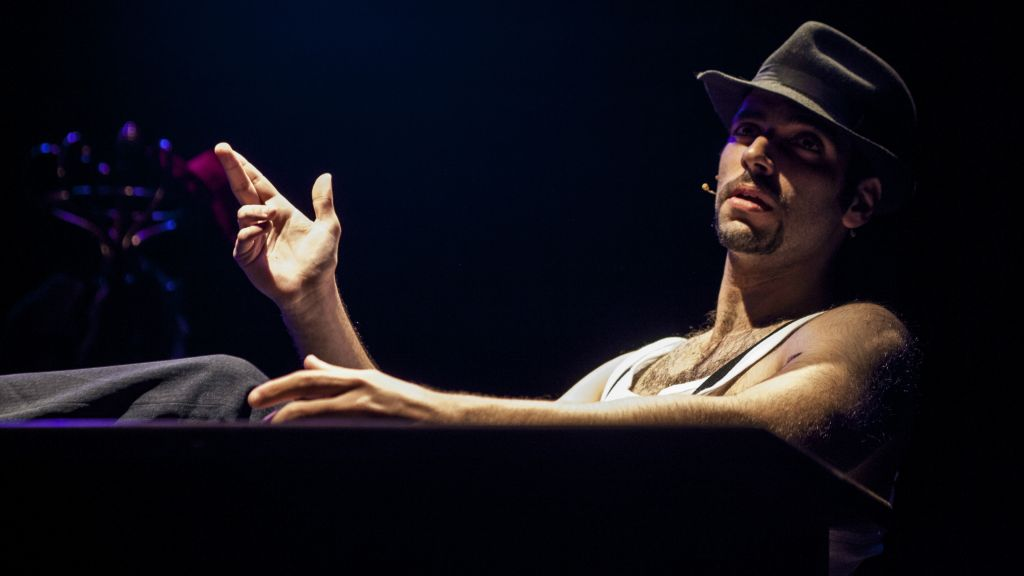 Amit Ulman, one of the creators of 'The City,' the rap-driven spoken word production from The Victor Jackson Show ensemble, in which he plays Joe (Courtesy Peter Kiska)