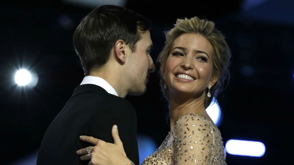 Ivanka Trump and her husband Jared Kushner dance at the Freedom Ball, in Washington, January 20, 2017. (AP Photo/Evan Vucci)
