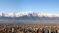 A panoramic of Santiago