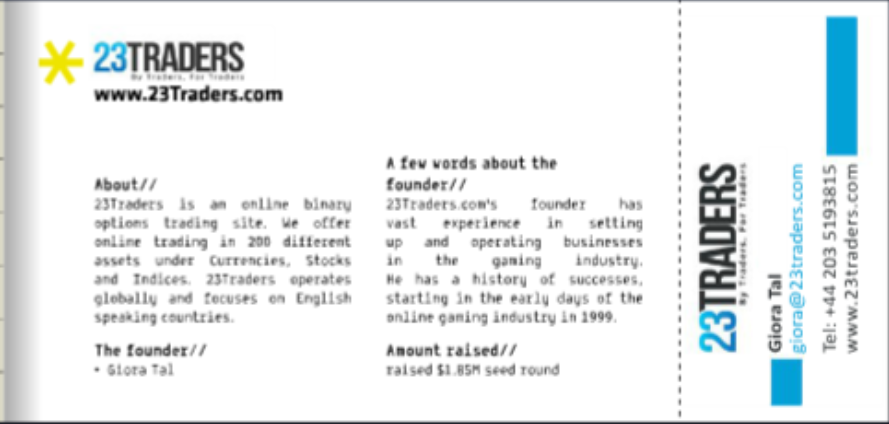 Screenshot from a promotional brochure for the Founders Group
