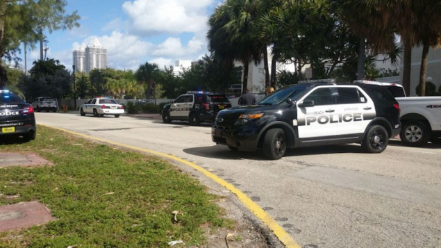 Police Vehicles Outside A Miami Beach JCC