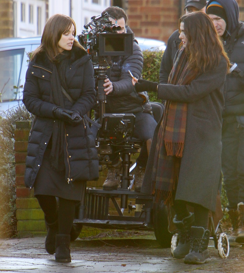 "EXCLUSIVE ALL ROUND Rachel McAdams and Rachel Weisz filming new film ""Disobedience"" in West London today Byline to be used : ISO IMAGES"