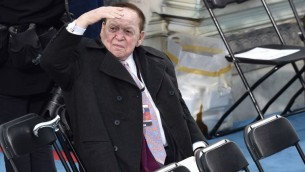 Sheldon Adelson is seated prior to the inauguration of President-elect Donald Trump at the US Capitol in Washington, DC on January 20, 2017. (AFP PHOTO/Paul J. Richards)