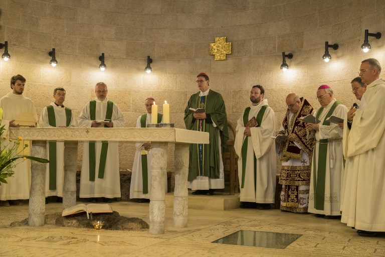 Famed church in Israel reopens 2 years after arson attack