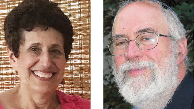 Dr. Elaine Cohen, left, and Rabbi Lee Paskind