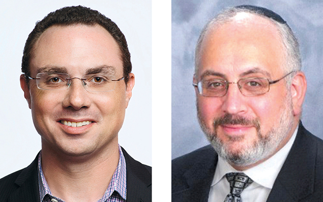 Dr. Joshua Zeitz, left, and Rabbi Joseph Prouser