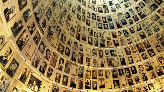 The Hall of Names at Yad Vashem containing Pages of Testimony commemorating the millions of Jews who were murdered during the Holocaust