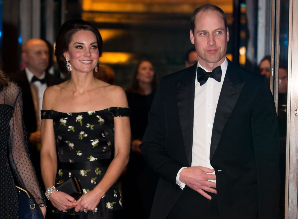 The Duke and Duchess of Cambridge at the British Academy Film Awards (Photo credit: Daniel Leal-Olivas/PA Wire)